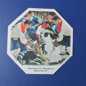 JEAN-BELIVEAU-1967-68-York-Octagons-28-Yvan-Cournoyer-Frank-Mahovlich-LEAFS