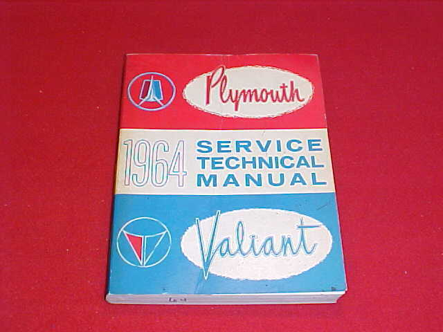 1964 PLYMOUTH ORIGINAL SHOP SERVICE REPAIR MANUAL 64 ...