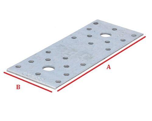 10x Flachverbinder Nagelplatte Holzverbinder Lochplatten Lochbleche Bau verzinkt