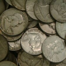 1 ROLL (20 Coins $10) Franklin Half Dollars , 90% Silver Coin Lot, Circulated