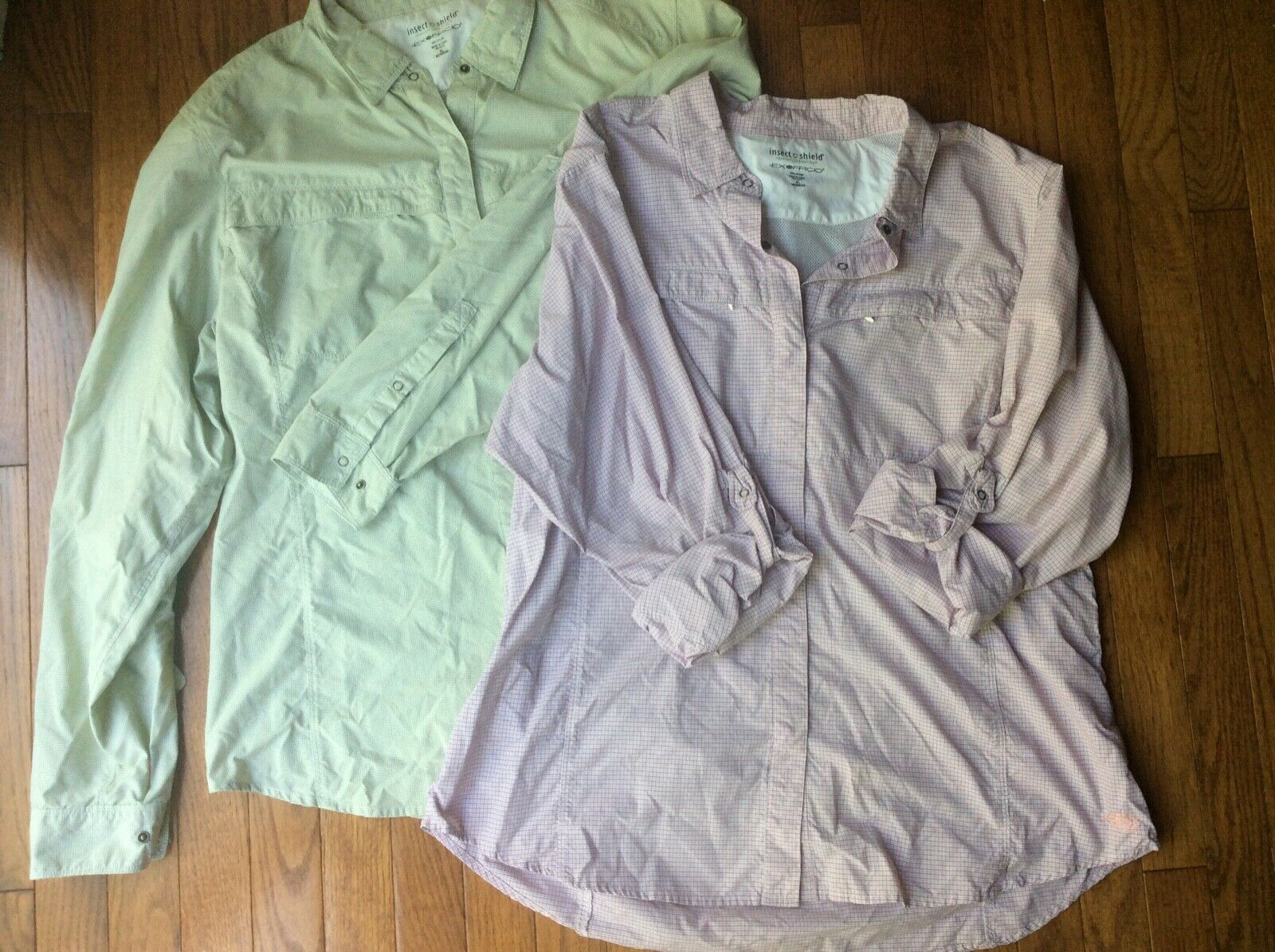 Womens  Exofficio Insect Shield  Long Sleeve Shirts  XL lot of 2  stadium giveaways