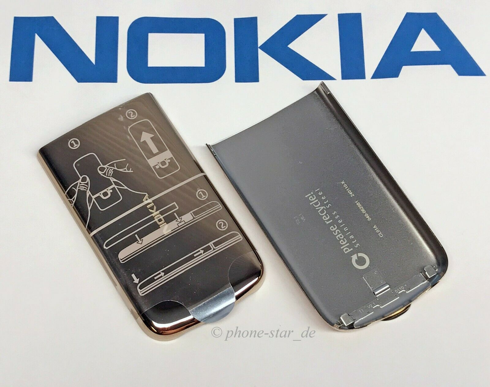 ORIGINAL NOKIA 6700 CLASSIC AKKUDECKEL BATTERY COVER REAR HOUSING GOLD 0257407