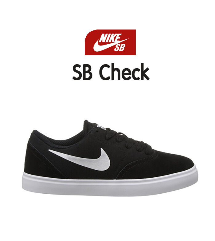 NIKE SB CHECK SKATEBOARD SNEAKER MEN SHOES BLACK/WHITE 778272-001 SIZE 10.5 NEW