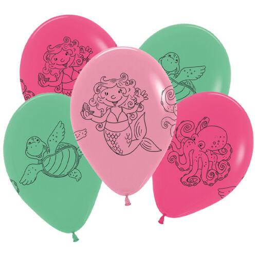 Meerjungfrau Kleine Nixe Kinder Geburtstags Party Teller Becher Servietten