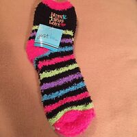 Womens  Faith Hope Love Fuzzy Socks Plush Striped Cozy Fleece 9/11