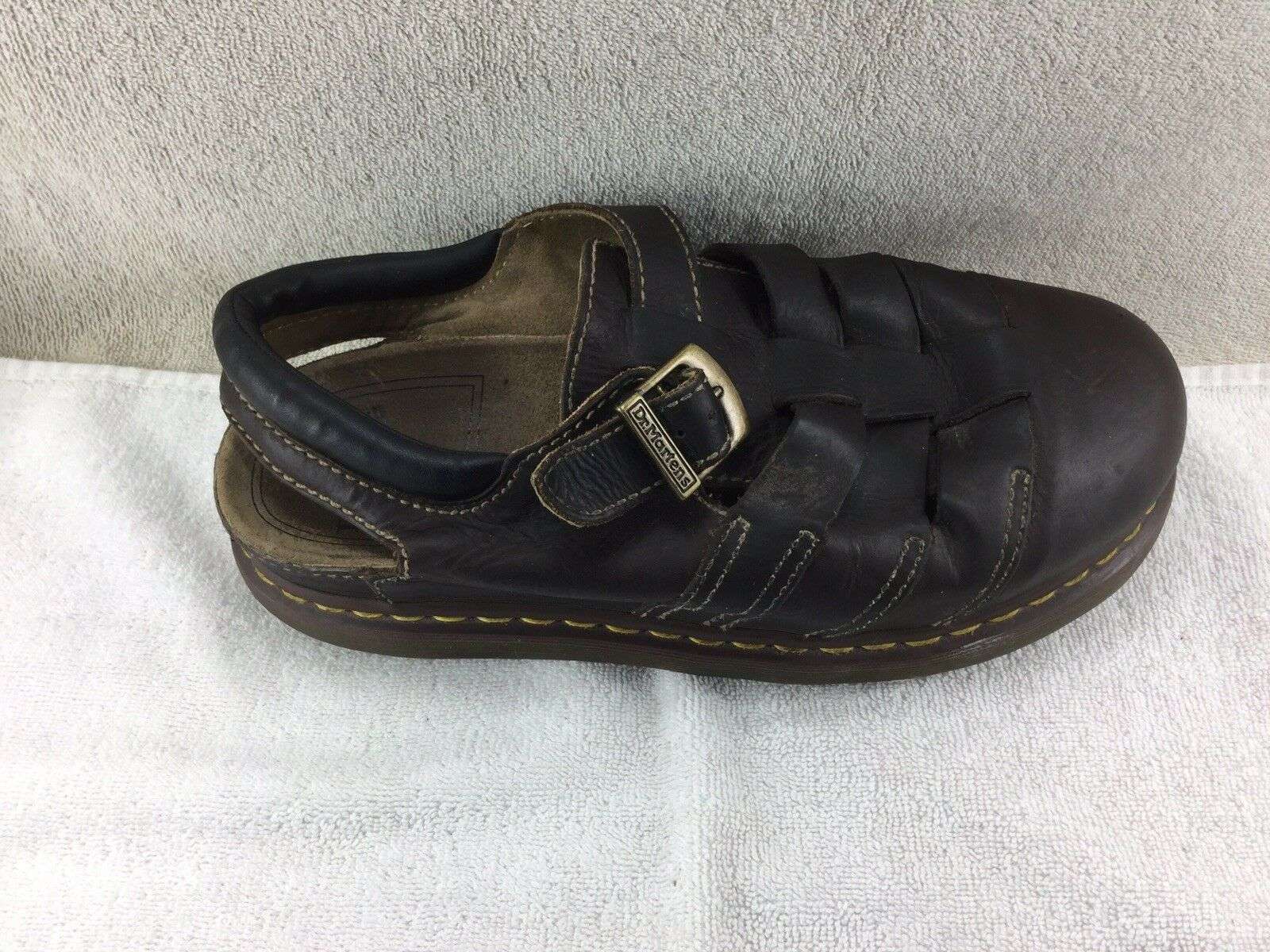 Dr. Doc Martens Brown Buckle Fisherman Style Sandals Mens Size 12M