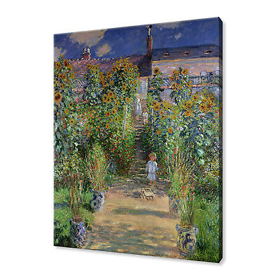Claude Monet Garden classic canvas print picture wall art free fast delivery