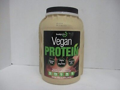 Bodylogix VEGAN 25g PROTEIN POWDER GLUTEN FREE CHOCOLATE 1.85lb EXP 5/18 DE 3973