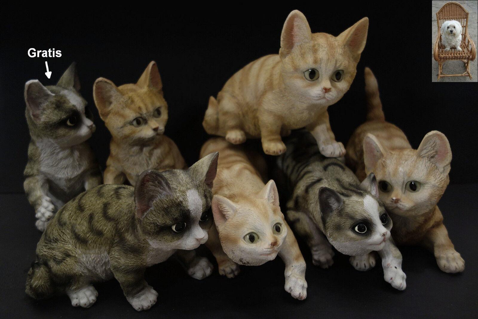 Liasse chats Art rocaille personnage peintes à la main modélisé gesamtgew. 3,19 kg