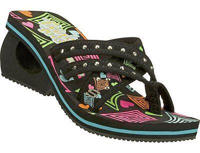 Skechers Girls' Twinkle Toes Sassy Safari Thong (kids)