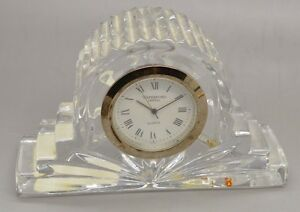 Details About Vintage Waterford Ireland Crystal Cottage Mantle Or Desk Clock Quartz France