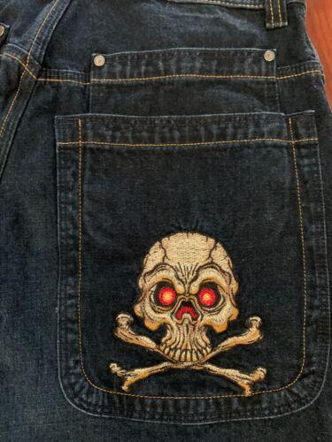 JNCO Jeans - VINTAGE SKULL & CROSSBONES Wide Leg S