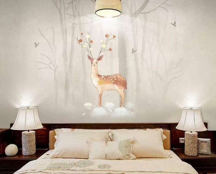 3D Deer Trunk I1510 Wallpaper Mural Sefl-adhesive Removable Sticker Wendy