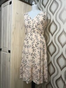Laura-Ashley-Pale-Pink-Floral-Tiered-Prairie-Dress-Size-14-Special-Occasions