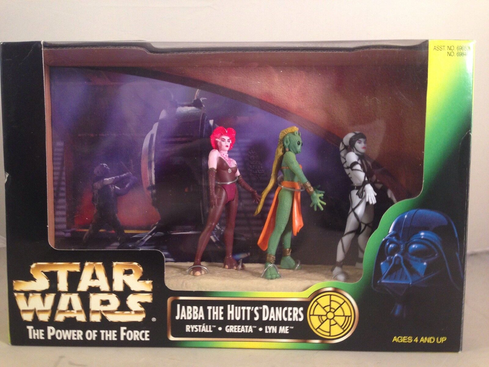STAR WARS THE POWER OF THE FORCE JABBA'S THE HUTT'S DANCERS FIGURE SET MIB 1995