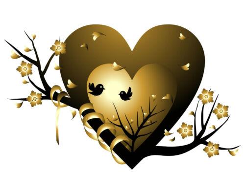 L08 estribo imagen perchas transferencia AST pájaros corazón amor din a4 o a5 sustancias brillantes