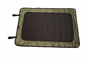 MDI Neoprene 88x60cm Green Caravan/Motorhome/Tent Peg Out Doorway Mat (Roll Up)