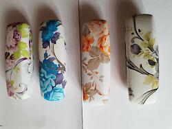 Brillenetui Hartschalen-Etui Kunststoff, 165 x 55 x 40 mm, Blumendekor
