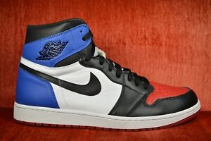 timeless design 6090a a11bb Details about WORN TWICE Nike Air Jordan Retro 1 High OG Top 3 Size 14  White 555088 026