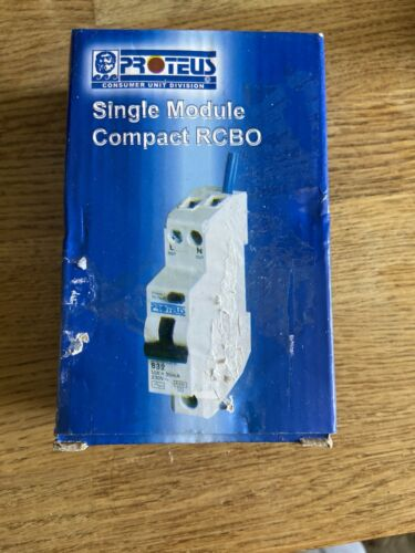 Proteus 32 Amp Single Module Compact RCBO 32MBRSPK New