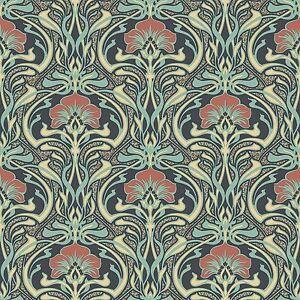 Archives-Flora-Nouveau-Papier-Peint-Paon-Vert-Crown-M1196-Retro