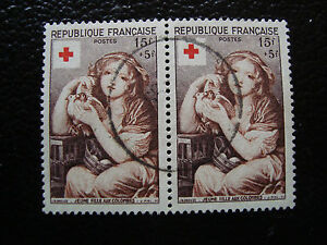 FRANCE-timbre-yvert-et-tellier-n-1007-x2-obl-A15-stamp-french