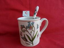 Portmeirion, Botanic Garden, Coffee Mug or Tea Mug & Spoon (C)