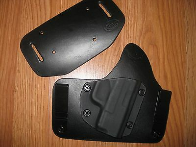 IWB//OWB combo Kydex//Leather Hybrid Holster with adjustable retention for Glock