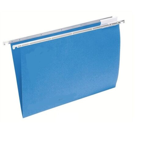 BLUE HEAVYWEIGHT FOOLSCAP SUSPENSION FILES, WITH TABS & INSERTS [PACK OF 10]