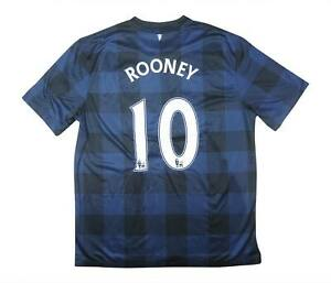 Manchester United 2013-14 Authentic AWAY SHIRT ROONEY #10 (eccellente) L