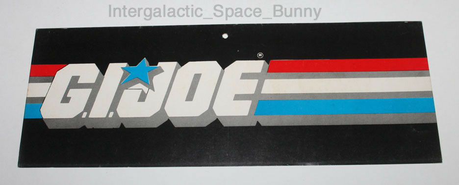 1984 Hasbro Gijoe Original Mobile Hanging Display 15  x 5.5  Wide
