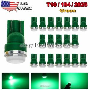 20x-Car-T10-Green-LED-5630-Chip-Wedge-Light-Bulb-158-168-192-194-2825-W5W-Lamp