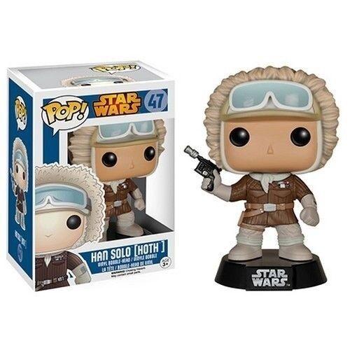 New Star Wars Series 47 Han Solo Hoth Pop Vinyl Bobble Head Figure Funko