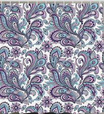 Item 1 Paisley Floral Flower Fabric SHOWER CURTAIN Nature Leaf Art Print Bath Decor