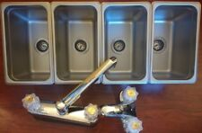 Small 3 4 Compartment Sink 1 Hand Wash For Portable Concession Sinks