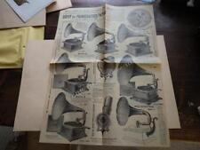 1910.affichette publicité phonographe Pathé.