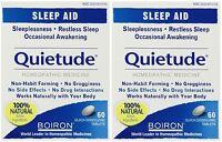 2 Pack Boiron Quietude Natural Sleep Aid Sleeping Pills 60 Dissolving Tablets Ea on sale
