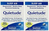 2 Pack Boiron Quietude Natural Sleep Aid Sleeping Pills 60 Dissolving Tablets Ea on sale