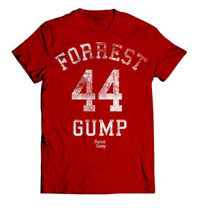 Forrest-Gump-039-44-039-Red-T-Shirt-NEW-amp-OFFICIAL