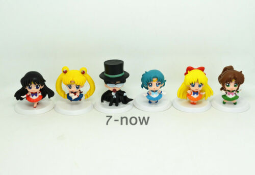 "Lot 6 pcs New Sailor Moon Anime Mars Jupiter Chibi Pluto Action figures Toy 1.8/"""
