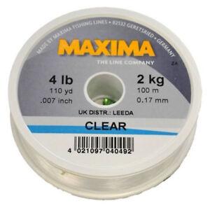 6lbs RRP £3.99 Maxima Clear Monofilament line - 100m Spool 2.7kg