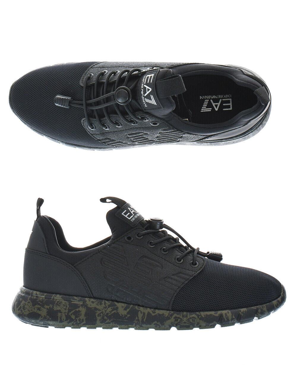 Emporio Armani Ea7 Chaussures baskets Homme Noir X8X009XK009 N140 Sz.6 faire offre