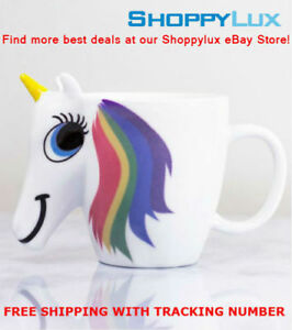 Original 3d Color Changing Temperature Unicorn Ceramic Mug Multi