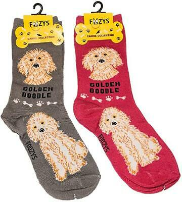 Doberman Pinscher ~ 2 pairs Canine Dog Foozys Novelty Fun Crew Socks Foozy