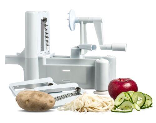 Chef's Star Tri-Blade Plastic Spiral Vegetable Slicer Cutter Peeler