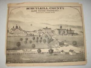 Original-1873-Print-Alms-House-Schuylkill-Haven-Pa-Schuylkill-County-Pa