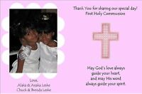 Customizable First Communion Thank You Note - I Create ... You Print