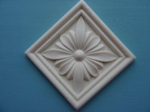 Decorative Applique Fleur sur Square Tile Résine Meubles Moulage incrustation de surface NR44