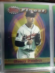 1994 Topps Finest Manny Ramirez Refractor Cleveland Indians