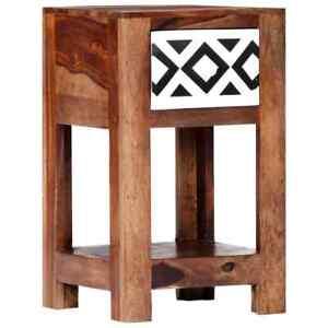 vidaXL-Solid-Sheesham-Wood-Bedside-Cabinet-30x30x50cm-Storage-Organiser-Stand